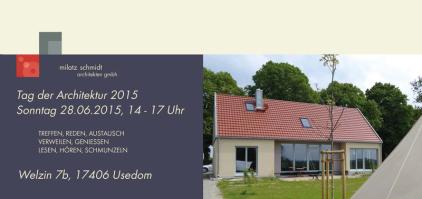 Tag der Architektur 2015 Welzin Usedom milatz.schmidt architekten